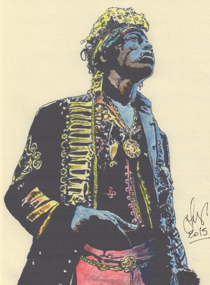 Jimi Hendrix por weaverjohn